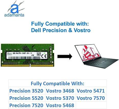Inspiron Laptop Memory Upgrade for Dell Alienware Precision Latitude Hynix Original 8GB XPS DDR4 2400Mhz PC4-19200 Vostro 1x8GB