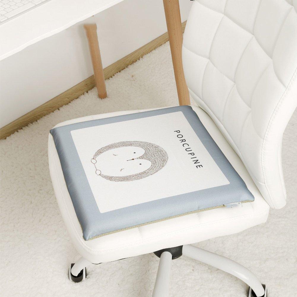 16x16inch DADAO Cuscino di Cotone di Memoria Estate Ghiaccio Seta Cuscino Traspirante Interno Fresco Ufficio,Cerniera Staccabile,Tappetino Antiscivolo-A 40x40cm