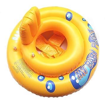 Anillo de natación, huhua bebé niños madre inflable flotador piscina flotador agua asiento silla coche Flamingo barco I Fun, color Yellow 2, tamaño Small: ...