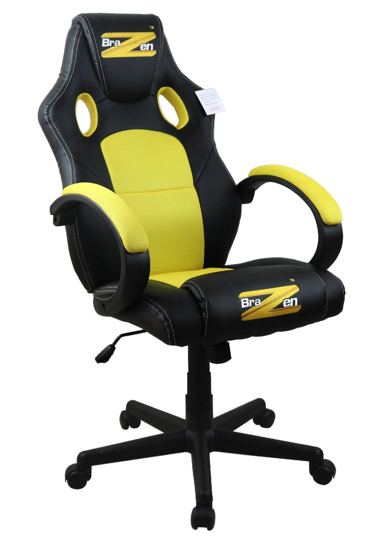 BraZen Shadow PC Gaming Chair Yellow/Black