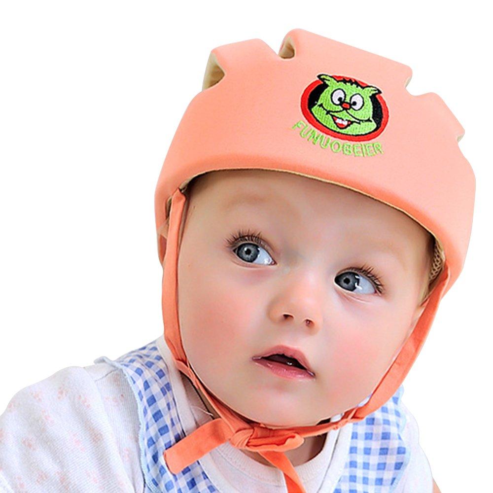 Casque de sécurité pour bébé et enfant, Bonnet de protection doux pour bébé - ABUSA casque mignon et adorable bonnet antichoc casque de randonnée et de marche avec coussin de tête .