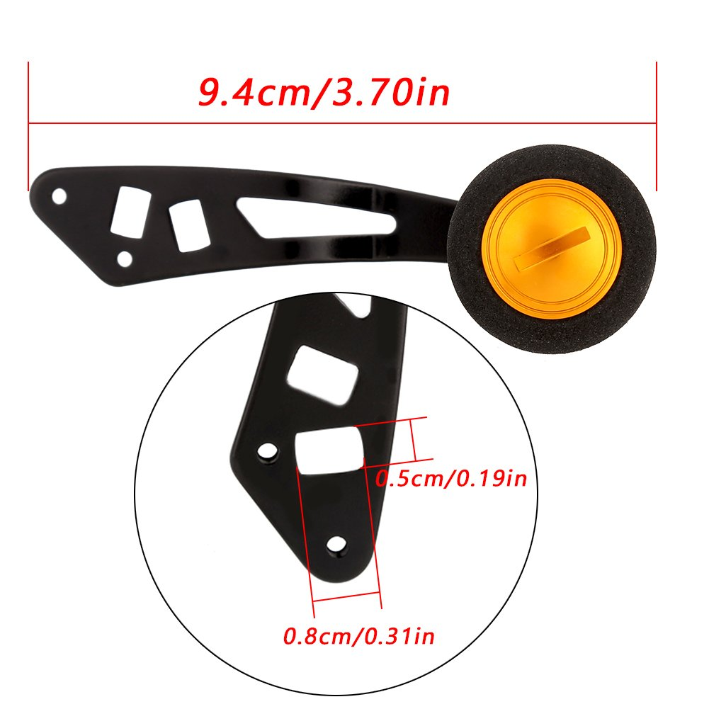 Tbest Fishing Reel Handle Knob Power Handle with Fittings Reel Replacement Parts for Low-Profile Reel Spinning Fishing Reel