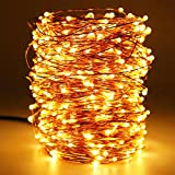 HaMi 66ft 200 LED String Lights,Waterproof Christmas Lights Fairy Lights with UL Certified, Decorative Copper Wire Lights for Bedroom,Patio,Wedding,Party - Warm White