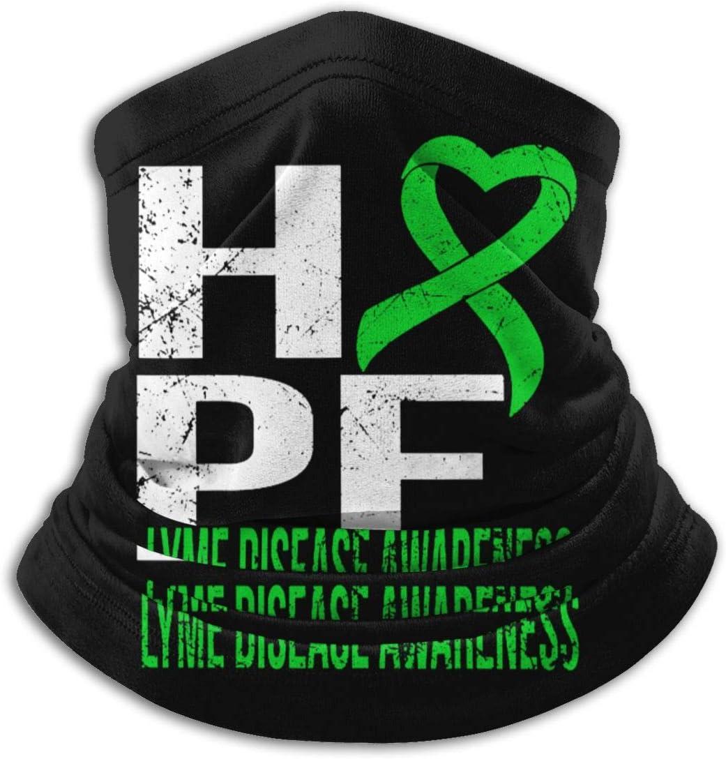Lyme Enfermedad Conciencia Microfibra Cuello Calentador Headwear Bufanda Tiempo Frío Invierno Deportes al aire libre Bandana Pasamontañas Unisex
