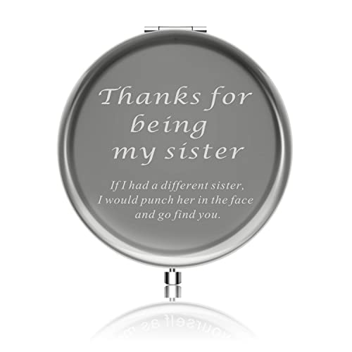 Best Sister Gifts from Sister Ideals Birthday Anniversaries Gift to Sister from Sister Makeup Mirror with Gift Box Thanks for Being My Sister
