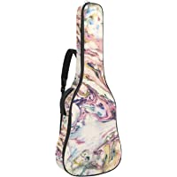 Funda de Guitarra Universal Acuarela Color Acolchada de 10mm con 2 Bolsillos para Guitarra Acústica y Clásica con Tamaño…