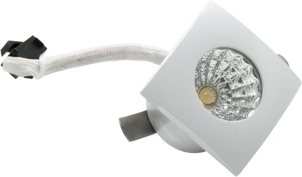 Foco mini LED foco empotrable cuadrado luz escalera marcapasos 1 W 220 V agujero 26 mm Bianco freddo Bianco: Amazon.es: Iluminación
