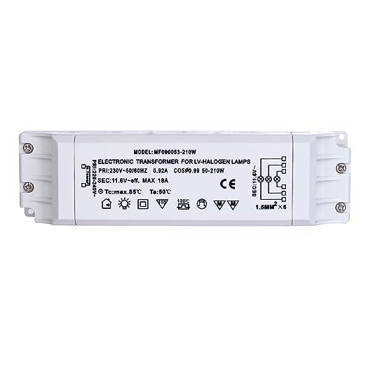 33 opinioni per Liqoo Trasformatore Elettronico 220V a AC 12V 210W per Lamapde Alogene a LED AC