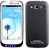Vanda®-Funda Carcasa con Bateria Samsung Galaxy S3 i9300 - Power Pack Capacidad 2600 mAh - Powerbank Samsung Galaxy i9300 S3 Powercase-negro