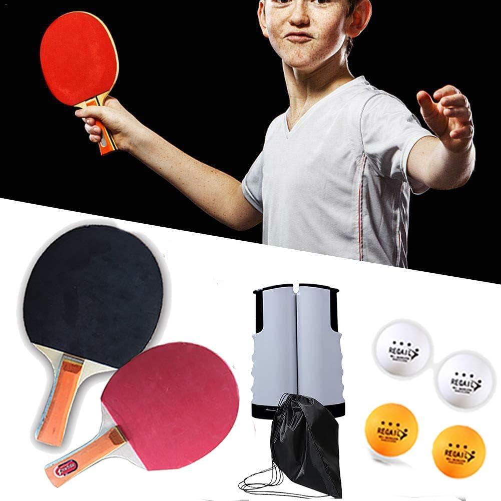 BCQ Cancha De Ping Pong Instantánea, Juego de Tenis de Mesa, Juguetes De Tenis De Mesa para El Hogar, Red portátil de Tenis de Mesa retráctil, hogar, el Club Deportivo, la Oficina