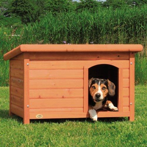 【ドイツTRIXIE】ドイツTRIXIE ドッグハウス屋外用犬小屋!TRIXIE ナチュラドッグケンネルフラットルーフ ブラウン M