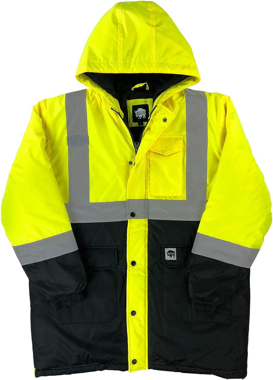 Buffalo Outdoors ANSI Class 2 Heavyweight Hi Vis Safety Winter Parka Jacket