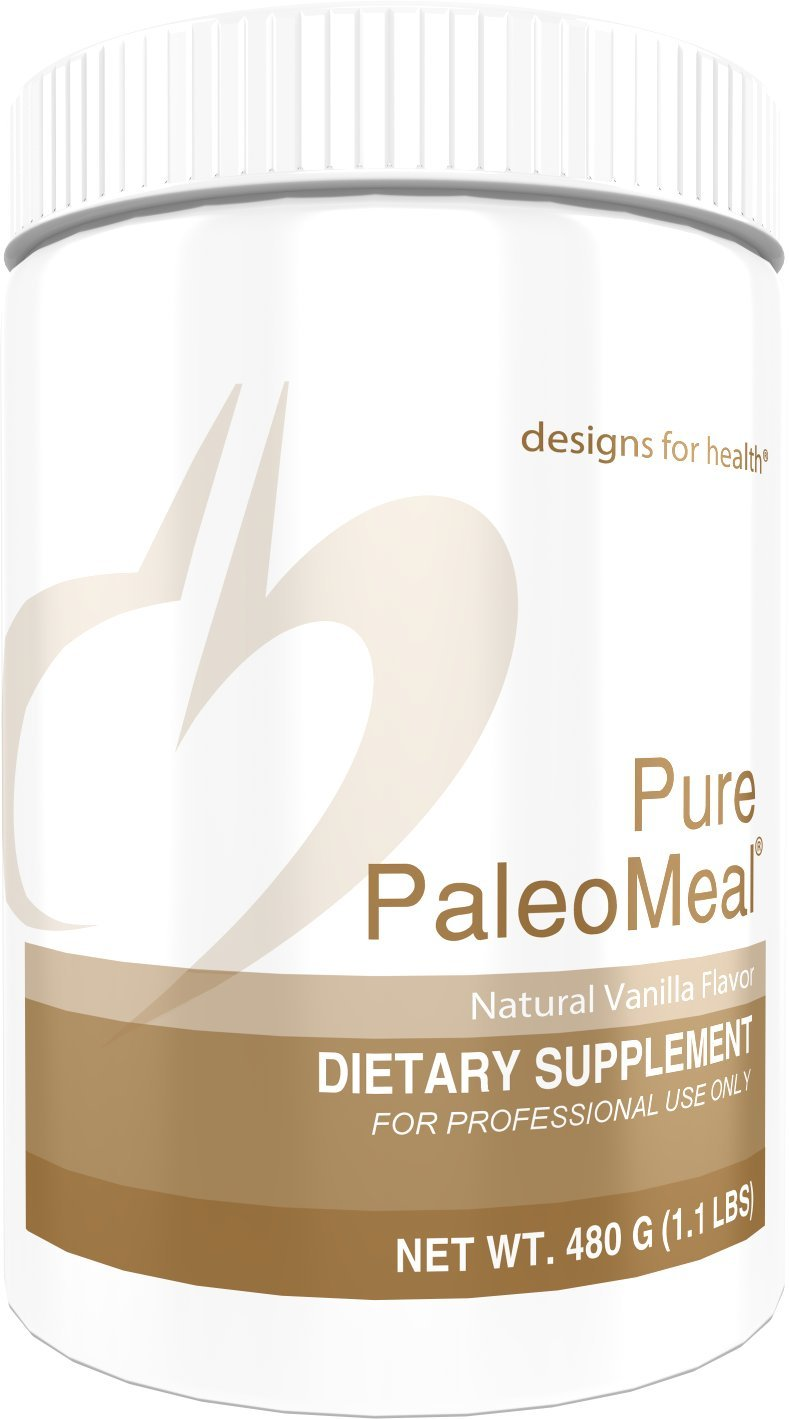 Designs for Health Pure PaleoMeal - Vanilla Bone Broth Protein Powder, 17 Grams Bone Broth Protein with Active Folate + Chelated Minerals (15 Servings, 480 Grams) by designs for health