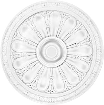 440x440mm Grand Decor Dekor 1 Rosette Decke R111 Stuck PU