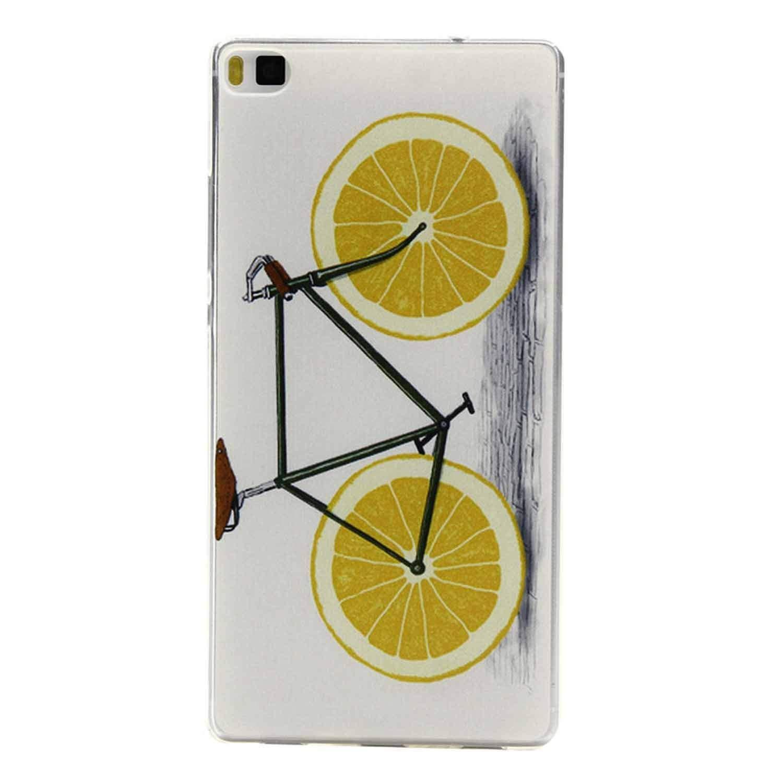 Amazon.com: Cartoon Lemon Bike Tree Painted Rubber Back ...