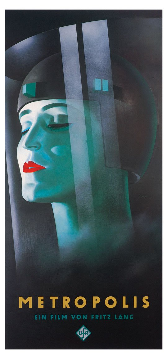 Kunstdruck   Poster XXL 88x190 METROPOLIS - Kino Film Theater Bild Deko