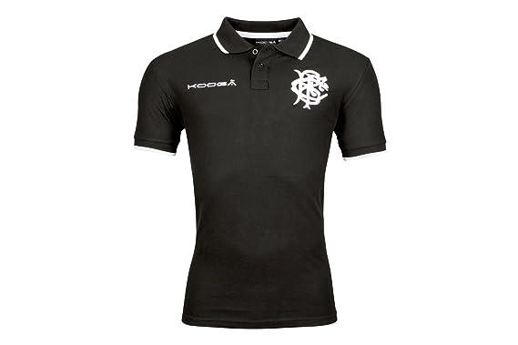 d67a2fc94 Kooga Barbarians Short Sleeved Pique Polo  Black   Amazon.co.uk  Clothing