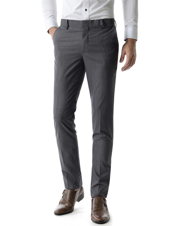 1446a8cf6fda (TLP2) Mens Slim Fit Stylish Slacks Simple And Practical Straight Dress  Pants