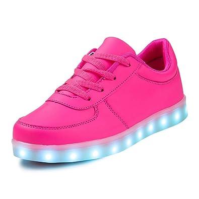große Auswahl neue niedrigere Preise erstaunlicher Preis SAGUARO® Jungen Mädchen Turnschuhe USB Lade Flashing Schuhe Kinder LED  leuchtende Schuhe mit farbigen Schnürsenkel (39 EU, Rosa)