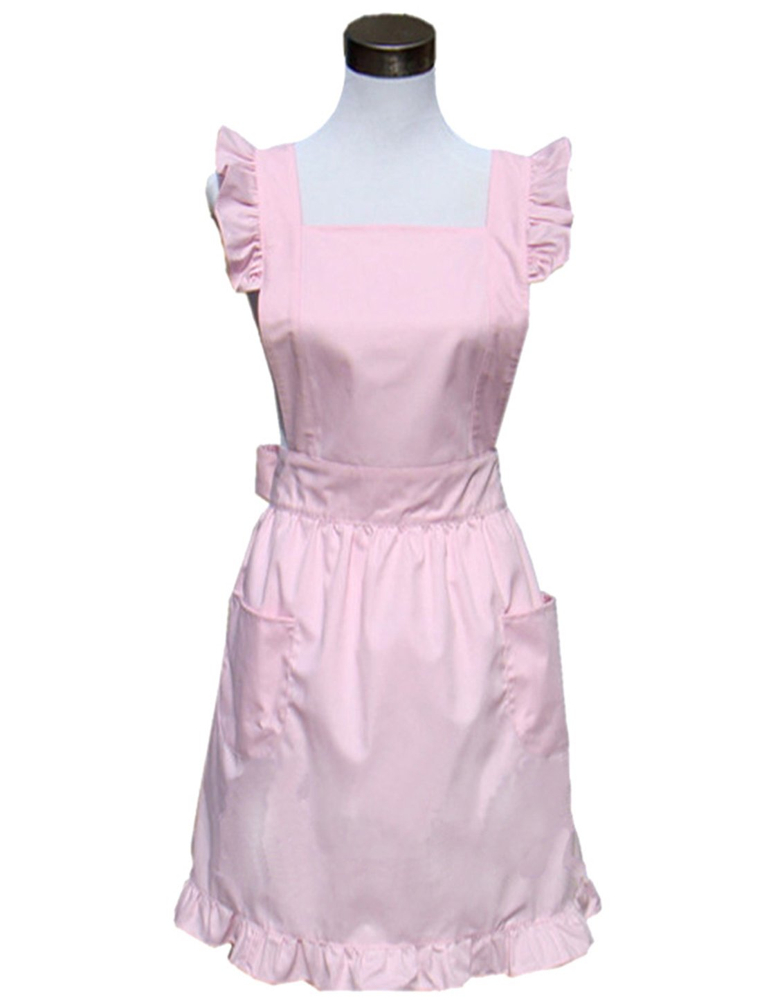 Hyzrz Lovely Retro Lady's Cotton Aprons Chic Cake Kitchen Cook Apron (Pink)