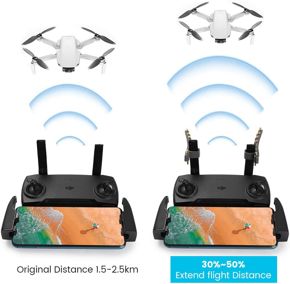 Yagi-UDA Antenna Signal Booster Range Extender Remote Control Signal Amplifier for DJI Mavic Mini//Mavic 2//PRO//DJI Spark//DJI Mavic Air