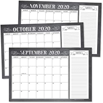 Amazon Com Chalkboard Rustic 2020 2021 Large Monthly Desk Or Wall Calendar Planner Big Giant Planning Blotter Pad 18 Month Academic Desktop Hanging 2 Year Date Notepad Teacher Family Or Business Office 11x17 Office Products