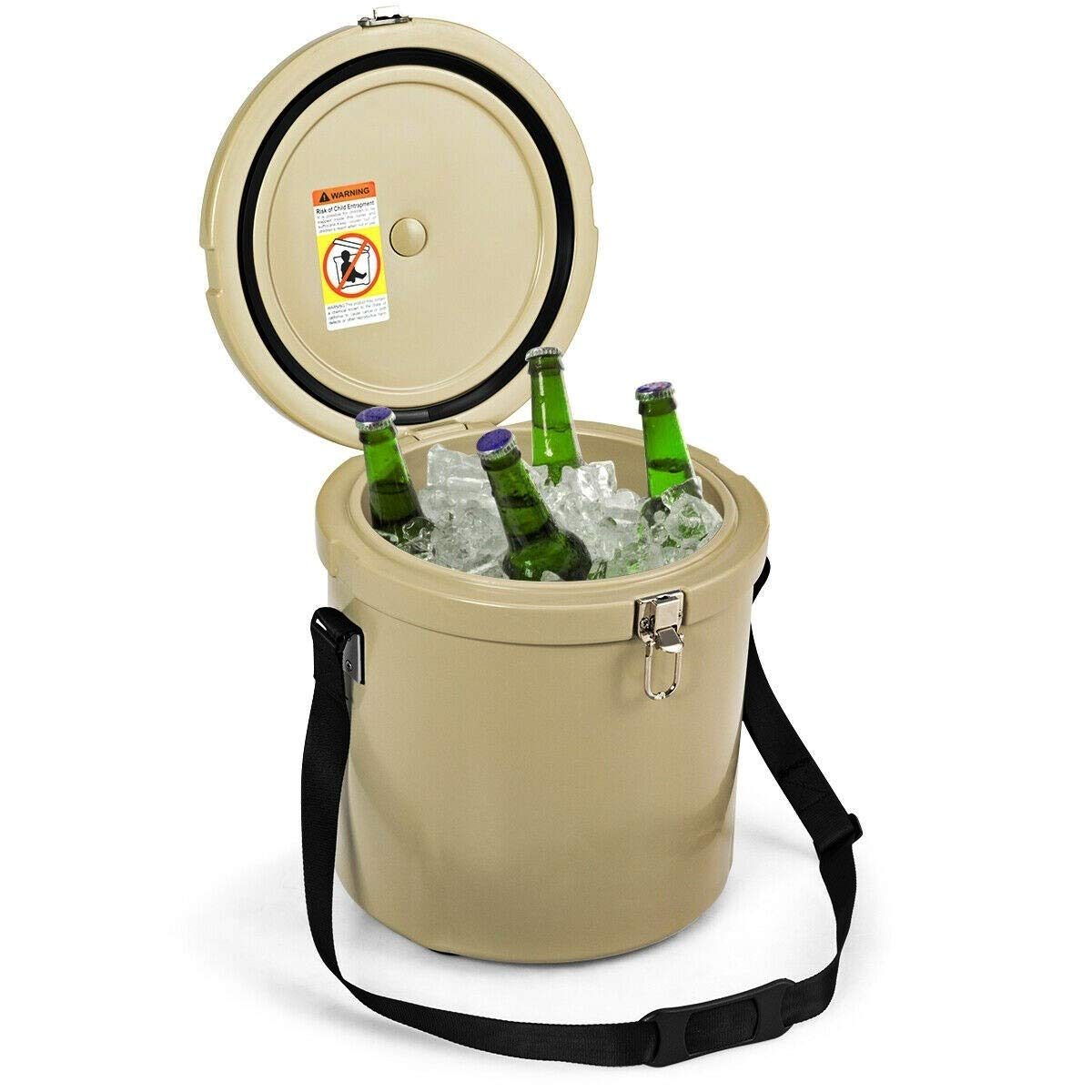 Lucky-gift - 13 Quart Portable Ice Cooler with Strap 18 Cans - Cooler Portable Ice Chest Box Food Beverage Drink Quart - Outdoor Beer Can Camping Storage Hard Rolling Boxes Party Picnic Patio by Lucky-gift