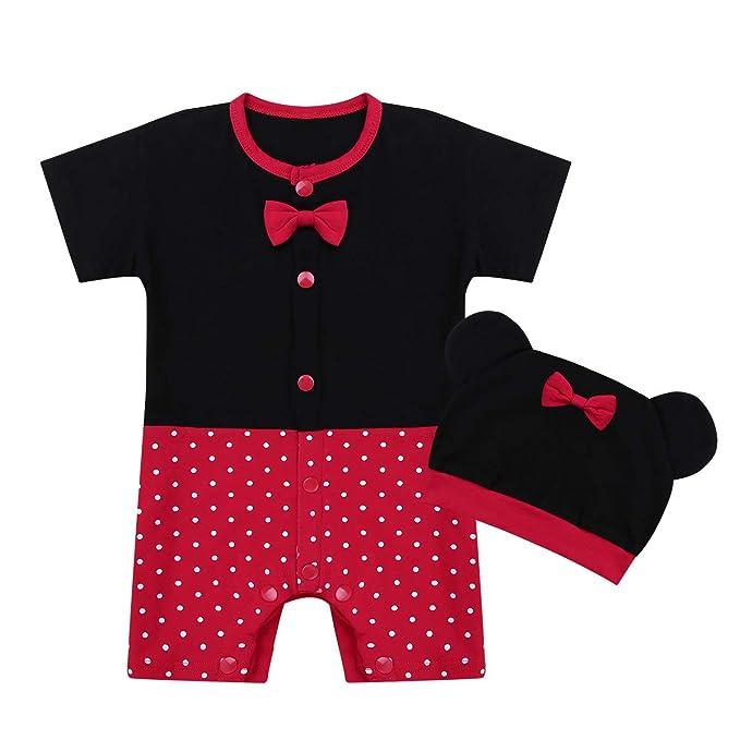 Freebily Unisexo Recién Nacidos Pijama Mono Bebés Algodón Mameluco Niñas Niños Peleles Sleepsuit Caricatura Trajes: Amazon.es: Ropa y accesorios