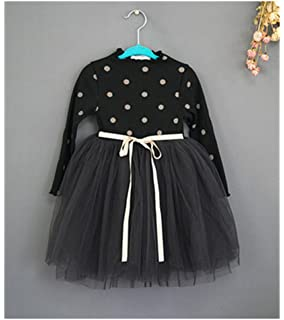 10fa50285e759 Amazon.co.jp: Candykids ガールズ キッズ 女児 女の子 長袖 ワンピース ...