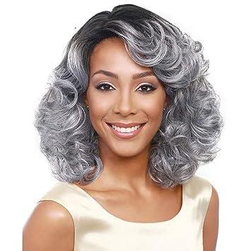 Pelucas para gris de las mujeres,Wave curly cosplay peluca Disfraz ...