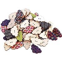 Ogquaton Botones de madera para niños de la