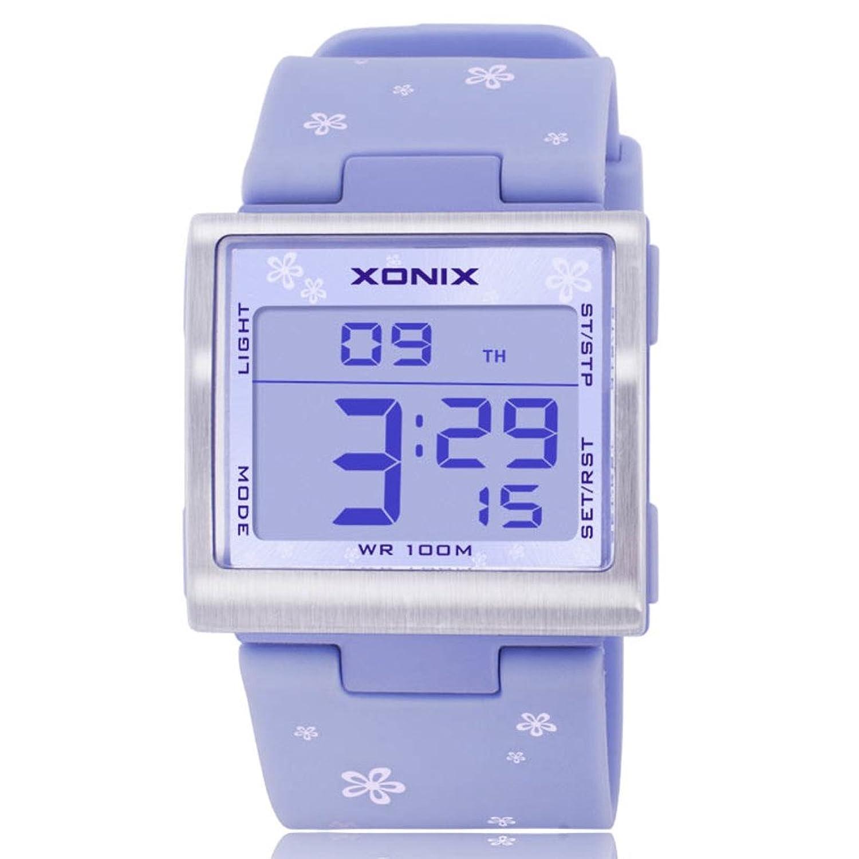 韓国語バージョンのカラフルなスクエア腕時計/万能ファッション女の子腕時計/防水夜フォトニクスtable-f B06XCW3Z1X
