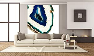 Giant Art Mediterranean Agate A Huge Contemporary Abstract Giclee Canvas Print for Office Home Wall Decor Stretcher, 54 x 54