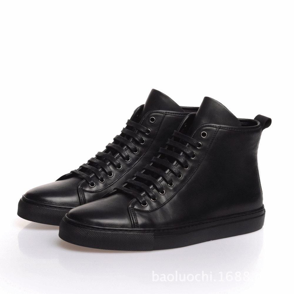 DHFUD Leder High-Schuhe Herrenschuhe Leder Spitze Stiefel Koreanische Männer Lederschuhe