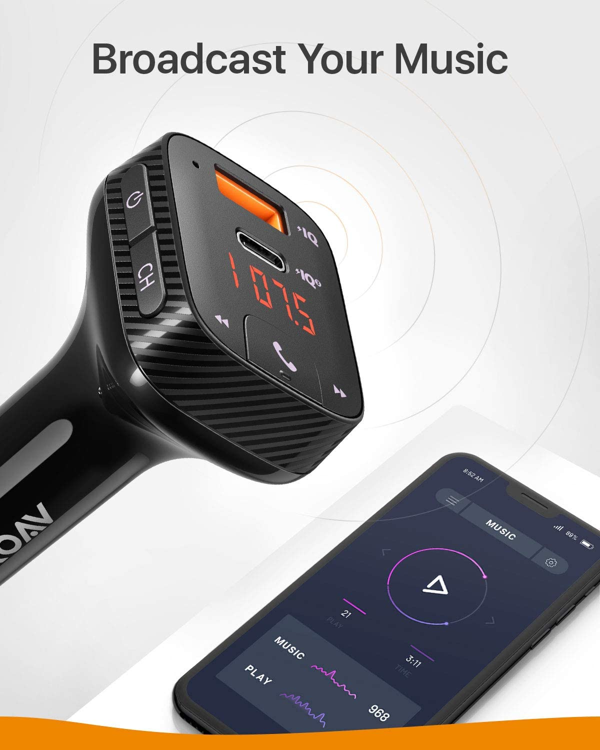 Anker Bluetooth FM Transmitter for Car