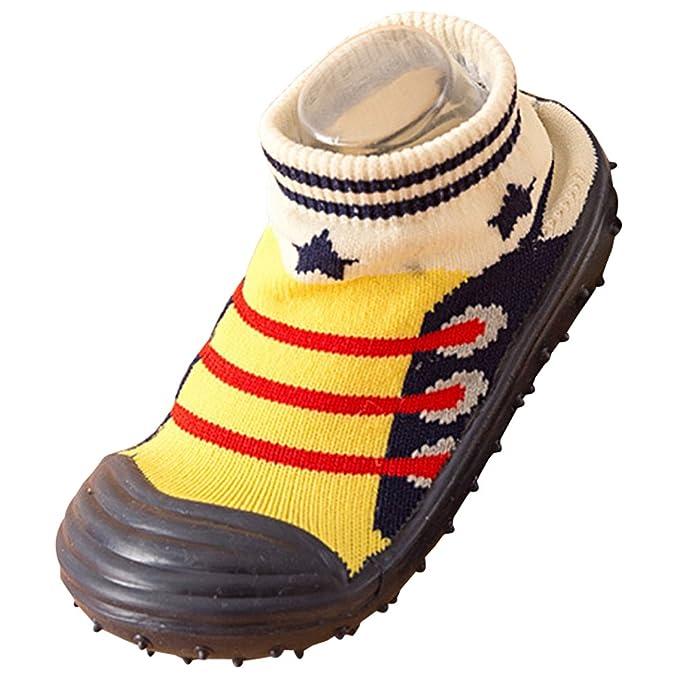 BOZEVON Invierno Calcetines Zapatillas para Bebés Niña Niño Antideslizantes Calentar Lindo Cómodo Algodón Calcetines Prewalkers Zapatos