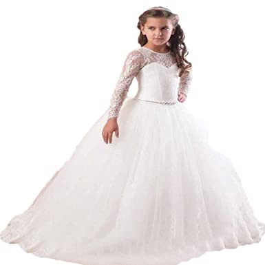 First Communion Dress Party Dress Prom Gown Princess Dress Pageant Bridesmaid Dress Wedding Flower Girl Dress