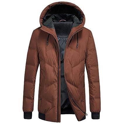 Winter Down Jacket Chaqueta Corta para Hombre, con Capucha, Corta, Engrosada, Casual