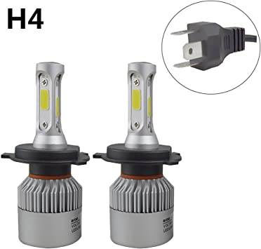 H4 HB2 9003 72W 16000LM LED Headlight COB Kit Hi//Lo Power Bulbs 6500K White Lamp