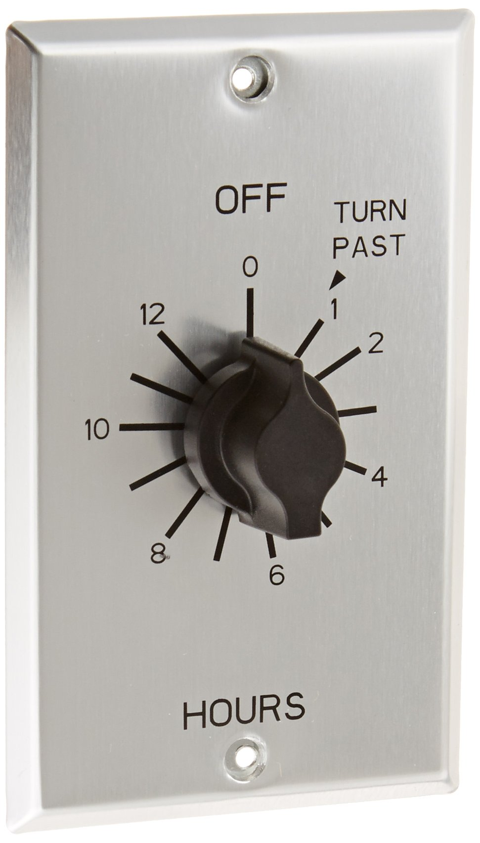C Series Commercial Style Sringwound Auto Off In-Wall Time Switch, 12 Hours Timer Length, SPST Switch Type