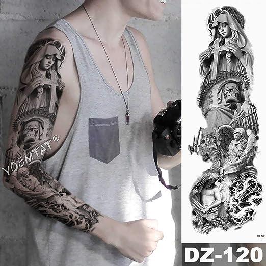 Zhuhuimin Manga del Brazo Grande Tatuaje Guerrero Elefante león ...