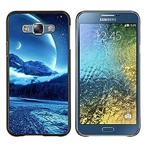 """Be-Star Único Patrón Plástico Duro Fundas Cover Cubre Hard Case Cover Para Samsung Galaxy E7 / SM-E700 ( Sci Fi Luna Planet"""" )"""