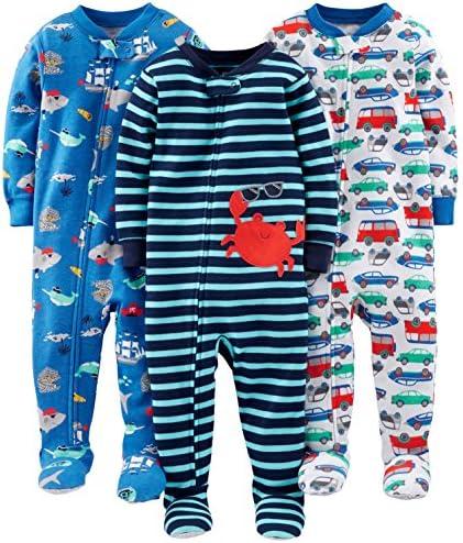 Simple Joys by Carters 3-Pack Snug Fit Footless Cotton Pajamas B/éb/é gar/çon