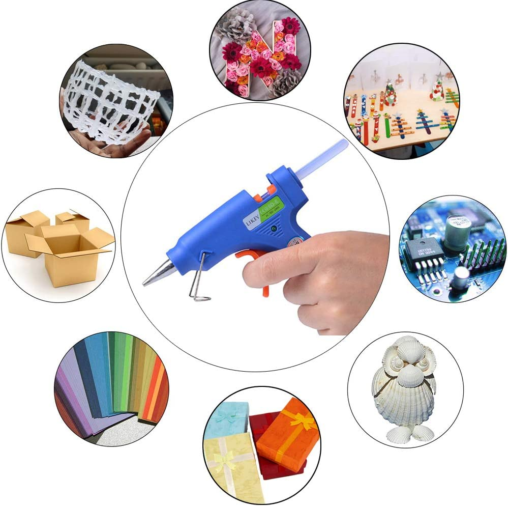 30 b/âtons de colle /à chaud DIY et travaux manuels et r/éparations rapides dans la maison et le bureau Likey Pistolet /à colle chaud 20 W