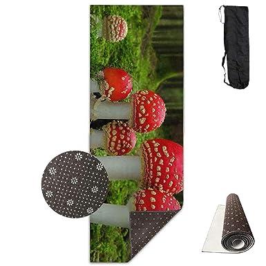 Amazon.com: Enchanted Mushrooms Yoga Mat Towel for Bikram ...