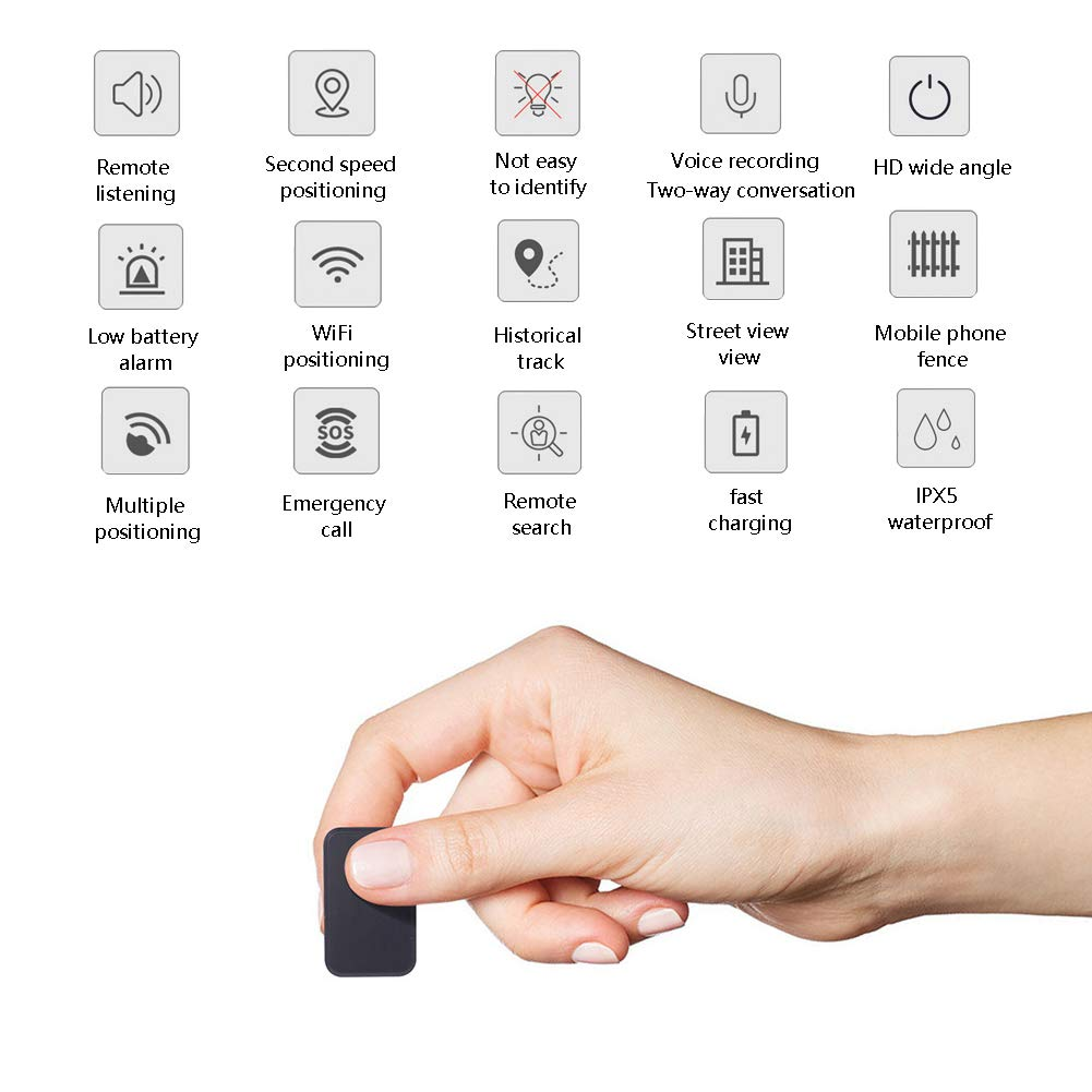 Mini Hidden Spy GPS Tracker Locator Device Used for The Elderly, Children are Anti-Lost,Item Tracker,Phone Finder,iOS/Android Compatible OMZBM