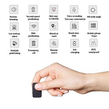 Mini Dispositivo Oculto del Localizador del Perseguidor del Espía del Espionaje Usado para Los Ancianos,