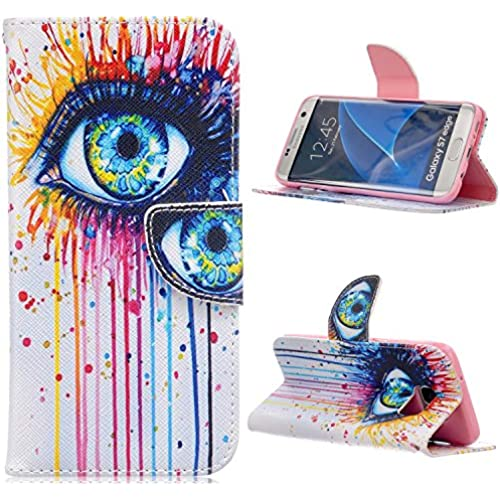 S7 Edge Case,DIOS CASE(TM) Magnet Clasp Flap Closure PU Synthetic Leather Stand Folio Flip with Card Slot Wallet Sales