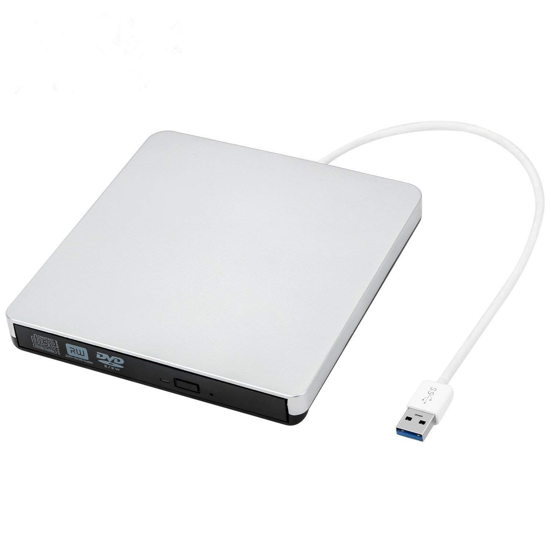 External CD Drive USB 3.0, Proslife Portable External CD/DVD Player/Burner/Writer, High Speed Data Transfer for Laptop/Desktop/Macbook/Mac OS/Windows10/8/7/XP/Vista