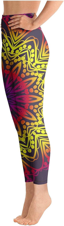 Womens Yoga Pants line Decorative Floral Cute Elastic Yoga Leggings Activewear Bra